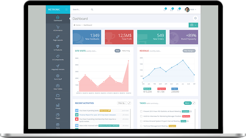 Metronic | #1 Selling Ultimate Bootstrap Admin Dashboard Theme